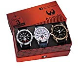 Armado Combo of 3 analogue Black White dial Men Watch -AR-8010