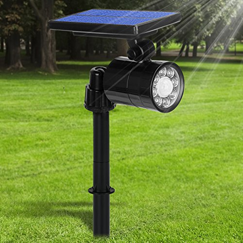 Lamparas Solares 800 Lumens Ultra Potente 8 LED Apliques de Pared, 4 Mode Focos Solares Exterior con Sensor de Movimiento, Impermeable IP65 360 ° Ángulo Ajustable Farolas Solares
