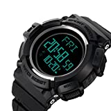 Best Black Mountain Exercise Watches - Men's Digital Sport Electronic LED Wrist Watch Military Review