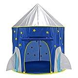 Georgie Porgy Casa de Juego Plegable para niños Portátil Tienda Castillo Jardín de Juguete al Aire Libre de Interior (Cohete)