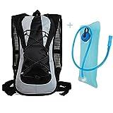 Hidratación ciclismo Mochila Paquete con una bolsa de 2 litros de agua, Diseño Hermoso y durable material de la tela, iParaAiluRy
