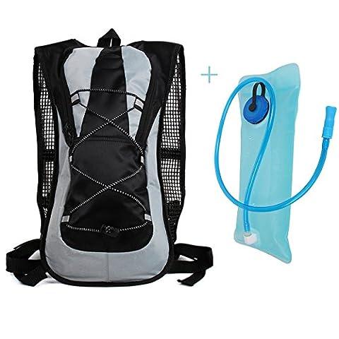 Trink Radfahren Rucksack-Pack mit einem 2 l Wasser-Beutel, Gutaussehend Design