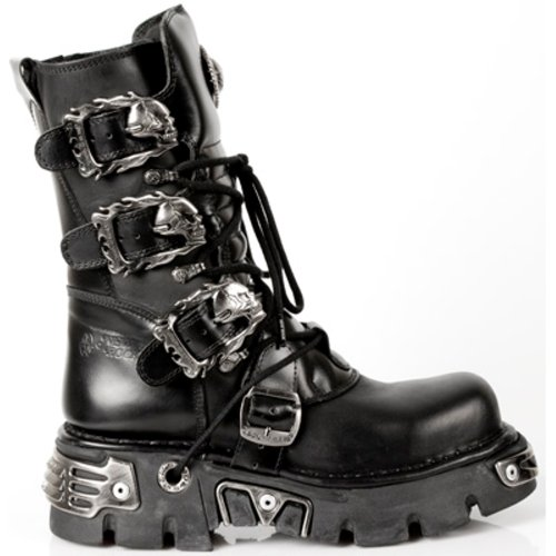 NEWROCK New Rock Stivali Stile 391 S1 Nero Reactor Unisex (37)