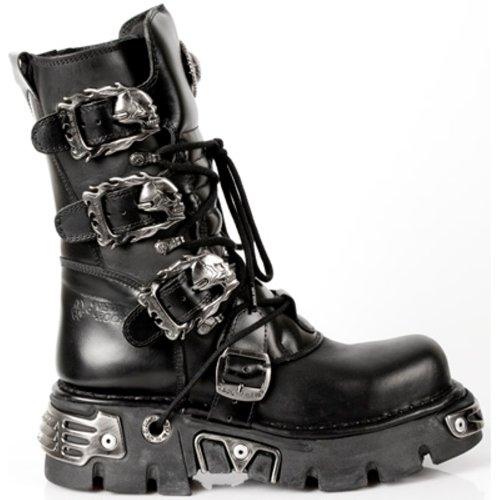 New Rock Boots Unisexe Botte - Style 391 S1 Noir Noir