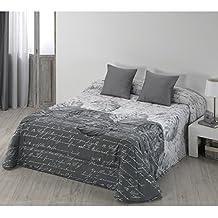 Edredón Conforter Modelo Indiana, Color Gris, Medida Cama 150