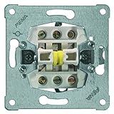 PEHA 00110411 Grundelement Rollladen-Wippschalter mit Schraubklemmen für alle Unterputz-Programme 10 A 250 V, 1-polig, elektrischer Verriegelung