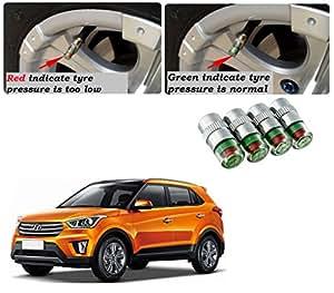 Auto Pearl Car Air Alert Tire Valve Cap for Hyundai Creta (Set of 4)