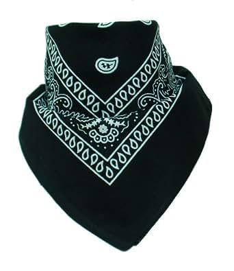 Bandana mit original Paisley Muster in schwarz