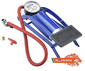 EEON Indian High Pressure Foot Pump, Air Tyre Inflator, Air Pump Compressor for Bike Car Cycles Toys and All Vehicles Made in India