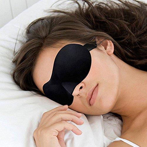 Switty Soft Travel Schlaf Rest 3D Eye Shade Schlafmaske SLEEP Maske Cover Blinder Hilfe Eyemask (schwarz 1) -