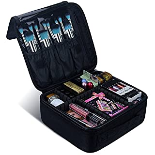 MLMSY Make-up Fall Reise Make-up Tasche Portable Make-up Pinsel Organizer Tasche Klett-Profi-Künstler Kosmetik Fällen für Frauen oder Männer Rasieren Kit (schwarz)