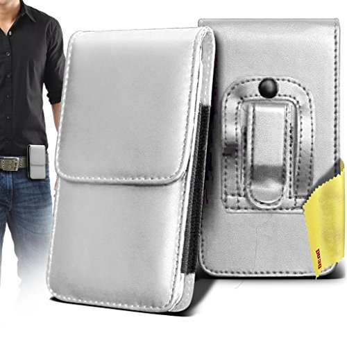 videocon-a53-case-accessories-white-premium-vertical-pu-leather-side-pouch-case-cover-with-belt-clip