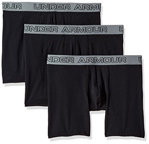 Under Armour Herren Unterhose Cotton Stretch 6'' 3 Pack Schwarz
