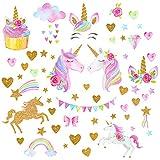 QKURT Stickers muraux Licorne pour Filles Garçons Chambre, Grand Vinyle Maison Decal pour Les Enfants Salon Chambre Filles Chambre décor