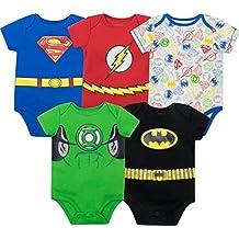 Body de Liga de la Justicia superhéroe Onesies Batman, Superman Monos para