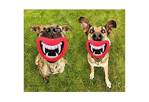 Qiao Niuniu Funny Pet Toy Vinyl Devil S Red Lip Squeak Sound Dog Toys Dog  Chewing Puppy e9f8519462d