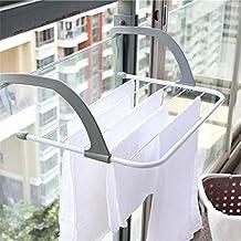 AZX Tendedero de Balcón, Secador Plegable de Puerta,Tendedero Radiador de Acero y Resina
