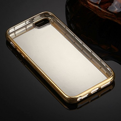 Wkae Case & Cover Pour iPhone 5 &5s &Case Cover SE Electroplating Mirror TPU protection ( Color : Grey ) Or