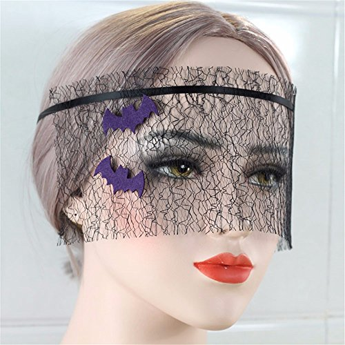 n Schleier Gesicht Halbmaske Dance Party Prinzessin Nachtclub Hälfte Gesicht spitze Maske, Violett (Hälfte Und Die Hälfte Halloween-make-up)