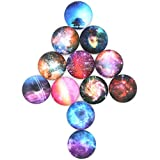 Cielo estrellado imanes de nevera 12unidades cristal imanes para nevera, Imanes de oficina, calendario imán, imanes de Pizarra blanca, imán decorativo perfecto Set, Starry sky