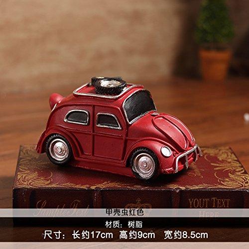 IVintage Amerikanische master Automobil Resin Model der Dekoration Wein Cafe Bar Einrichtung Roadster, Käfer rot (Amerikanische Käfer)