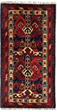 Nain Trading Khal Mohammadi 101x49 Orientteppich Teppich Dunkelgrau/Braun Handgeknüpft Afghanistan