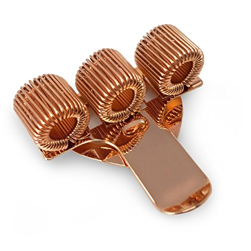 Dreifach Metall Stifthalter mit Pocket Clip–Ideal für Ärzte/Krankenschwestern/Piloten–Single–Rose Gold (Stift-halter Dreifach)