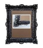 Lnxp Antik Barock BILDERRAHMEN in der Farbe Schwarz/Silber 2 Dualcolor 56x46cm RECHTECKIG REPRO Bilder für 30x40cm Oder 40x30 cm BAROCKRAHMEN Bilder