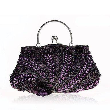 WZW Donna Poliestere Formale / Casual / Serata/evento / Matrimonio / Ufficio e lavoro / Shopping Borsa da sera . gold purple