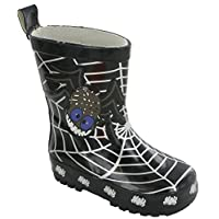 Stormwells Spider Waterproof Kids Unisex Wellingtons Boots Wellies Infants Black