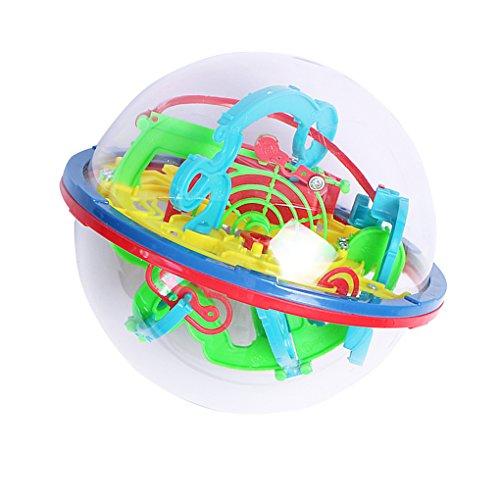 Minzhi 3D Magic Maze Ball 100 Ebenen Intellekt Rolling Ball Puzzle Spiel Brain Teaser Bay Kinder Vorschule Spielzeug (Brain Teaser Spiele)