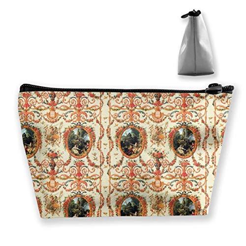 Cosmetic Bag Marie Antoinette Rococo Lovers Seasons Travel Makeup Bag Portable Toiletry Bag Pen Pouch Organizer Clutch Bag -