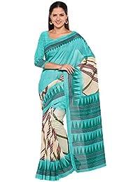 Rajnandini Women's Cotton Silk Printed Saree(JOPLNS11003_Multicolor_Free Size)