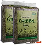 7KG Nature's Own Sweet Green Hay Pet Food Dust Extracted Animal Feed & Tigerbox Antibacterial Pen