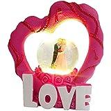 Antique Vintage Love Couple With Lighting Eeffect in Dome Handicraft Statue-Wedding Anniversary valentine Birth day, Home Room Office Table & Showcase Decor Murti Showpiece Diwali Return Gift item.