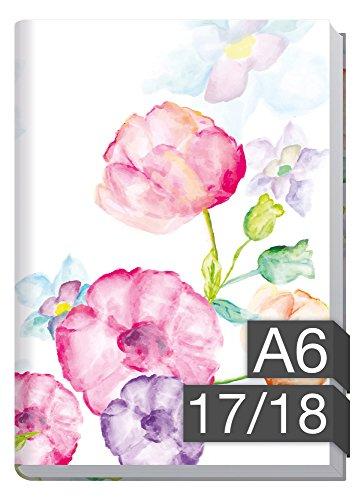 Chäff-Timer mini A6 Kalender 2017/2018 [Blumen] 18 Monate Juli 2017-Dezember 2018 – Terminkalender mit Wochenplaner – Organizer – Wochenkalender