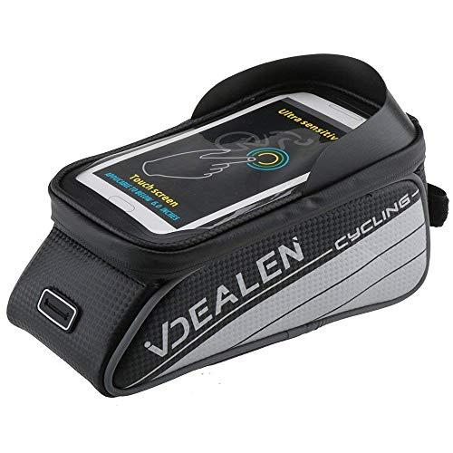 Vdealen Wasserdichte & Stoßfeste Fahrrad Handy Rahmen Tasche, Handyhalterung für 4,2 ~5,7 Zoll iPhone, Smartphone, Samsung, LG, Nexus, Sony, HTC (Schwarz & Silber, L/ 5.7 Zoll) (Galaxy 5 Für Telefon-kasten-geldbörse)