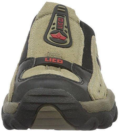 Lico - Storm, Scarpe da arrampicata Uomo Marrone (Braun/schwarz/rot)