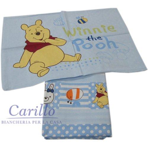 Winnie The Pooh Lenzuola.Completo Lenzuola Lettino Culla Disney Winnie The Pooh Baby 100 Cot