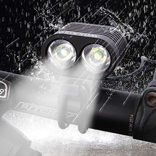 MTSBW Fahrrad Licht Scheinwerfer Wasserdichte Blendung T6 Doppel Leuchtenkopf Nachtfahrten Wiederaufladbare Auto Lichter Outdoor Camping
