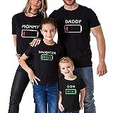 Mine Tom Minetom Camisetas Familiar de Manga Larga Casual Blusas de Cuello Redondo Mamá Papá Niños Bebé Impresión T-Shirt Tee Tops