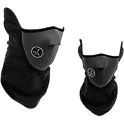 2x Mascara Braga Facial de Neopreno Proteccion Ciclismo Moto Montaña Marcha Nordica 4090_2