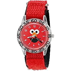 eWatchFactory Boy's 'Sesame Street' Quartz Plastic and Nylon Automatic Watch, Color:Red (Model: W003143)