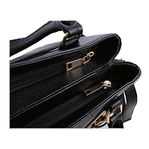 WU Zhi Signore Unità Di Elaborazione Borse Spalla Messenger Bag Black
