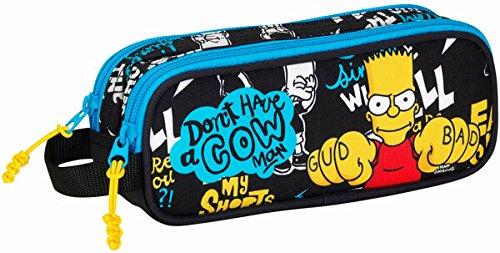 Los Simpsons- Estuche portatodo Doble, Color gud Bad (SAFTA 811605513)