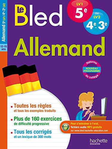 Cahier Bled Allemand niveau A2 : 5e LV1/4e-3e LV2 par Marie-Christine Despas