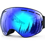 ZIONOR Lagopus X Snowmobile Snowboard Skate Ski Goggles with Detachable Lens and Wide Angle Double Lens Anti-fog Big Spherical Professional Unisex Multicolor