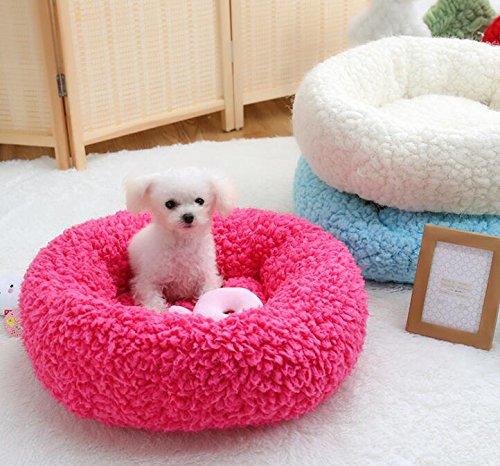 ZHJZ Katzenbett Sweet Candy Farbe Rund Nest Kennel Pet Nest Cremig-Weiß - 2