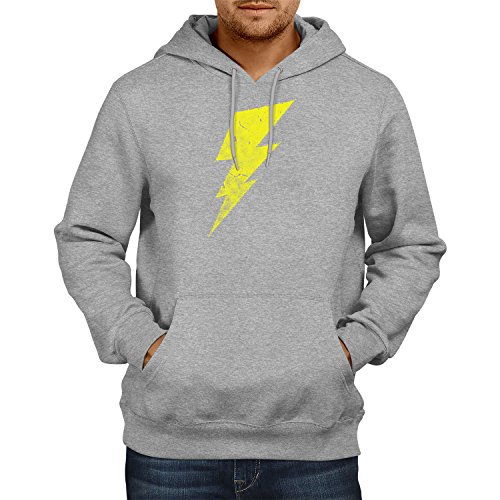 Flash - Herren Kapuzenpullover, Größe M, grau meliert (The Big Bang Theory Superhelden Kostüme)