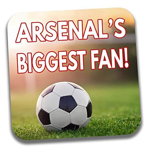 AK Giftshop Getränke-Untersetzer Arsenal's Biggest Fan Football – Geburtstagsgeschenk/Strumpffüller